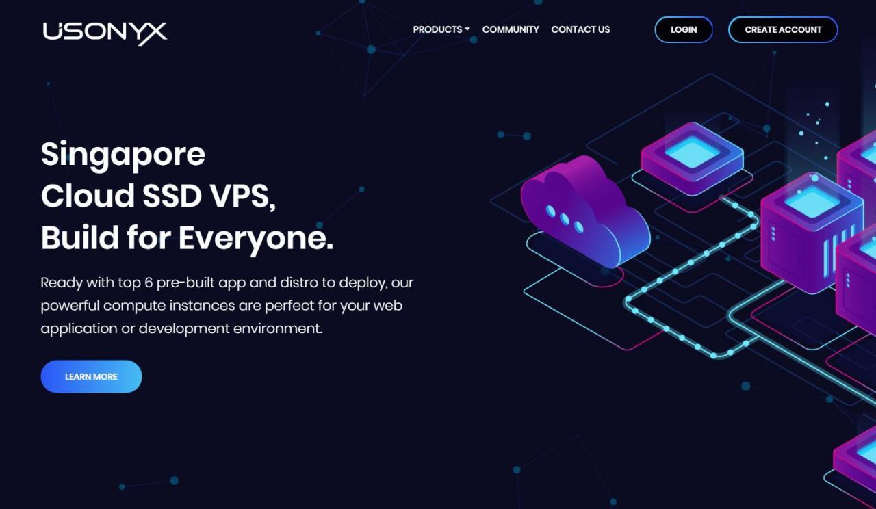 Usonyx - 新加坡KVM 25元/月 2核/2GB/100Mbps/2T流量 5折优惠