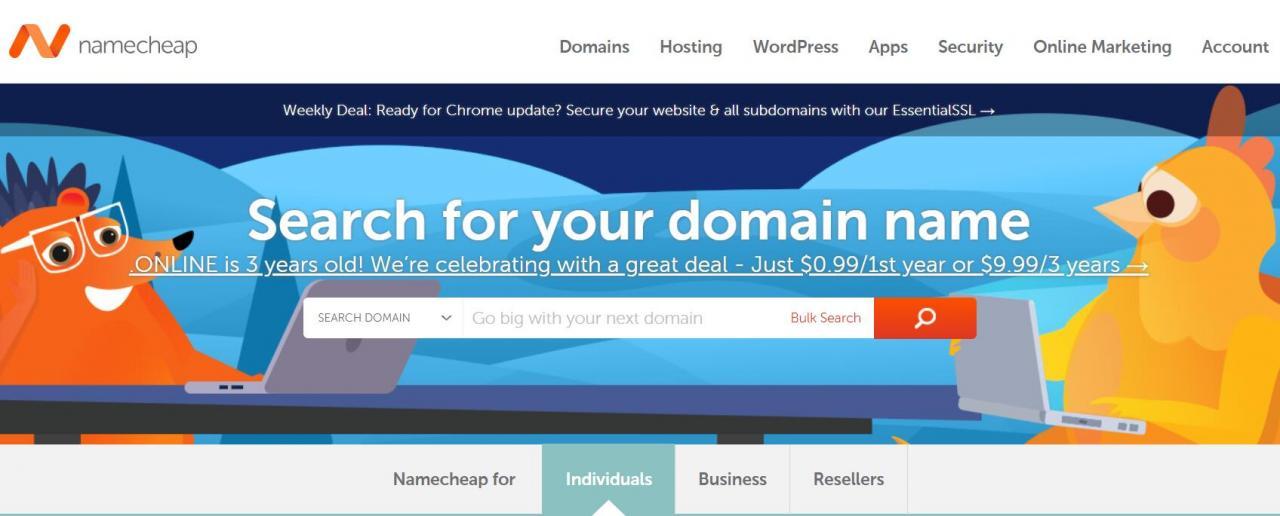 Namecheap-.COM新注册首年仅需0.88美元
