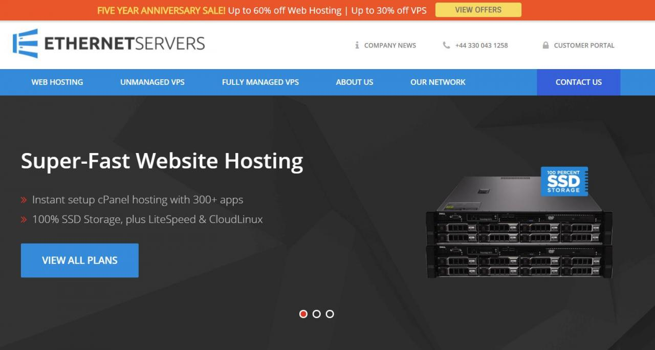 Ethernet Servers - 首年10.75刀 512M内存 10G 250G OpenVZ 美国洛杉矶 QN机房