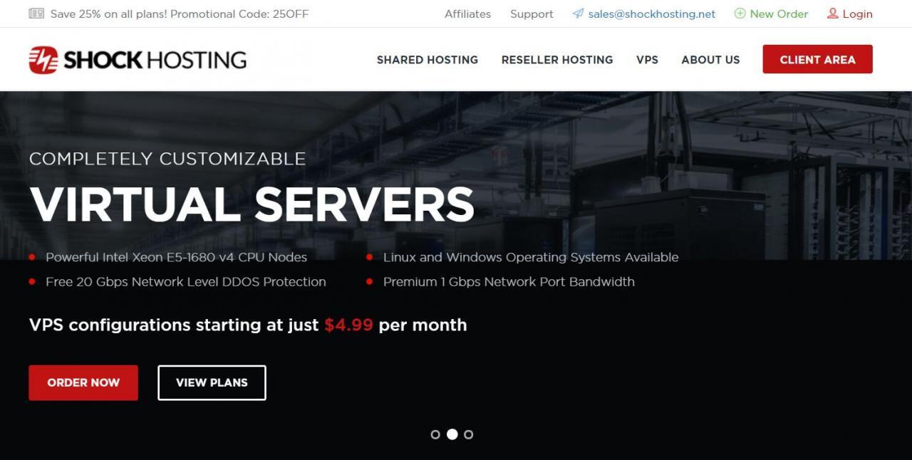 ShockHosting:洛杉矶KVM/1G内存/20G硬盘/1TB流量/月付3.74美元
