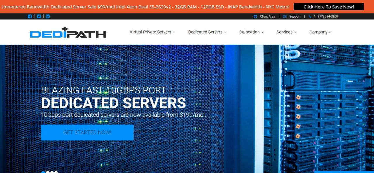 Dedipath - 洛杉矶 VPS终身四五折 服务器六五折