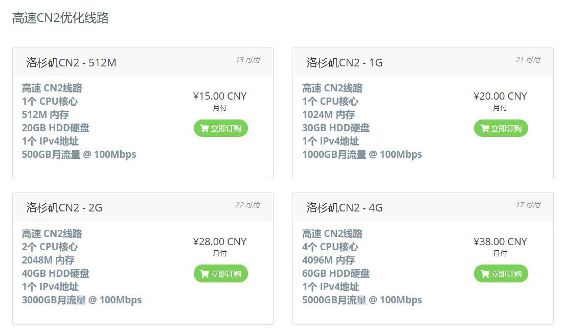 HostRacks - 洛杉矶 1核/512MB/20GB/100M/500G流量/OVZ  CN210元/首月