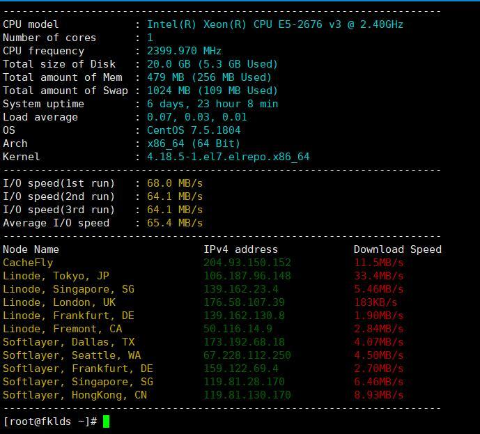 Linux VPS 系统测试脚本