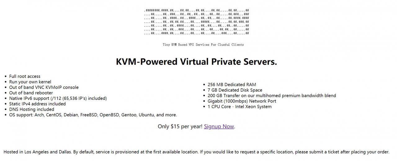 tinykvm - 美国KVM /年 Ramhost马甲