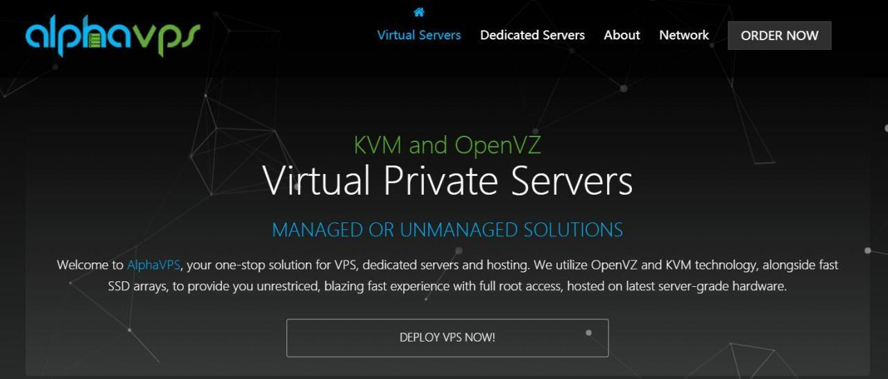 AlphaVps - OVZ KVM 促销 | 独服25欧起 | 多机房可选