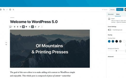 WordPress5.0禁用新有Gutenberg编辑器