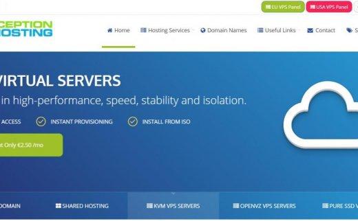 Inception hosting – €5.25/月 2GB 400GB 2TB KVM 凤凰城 存储