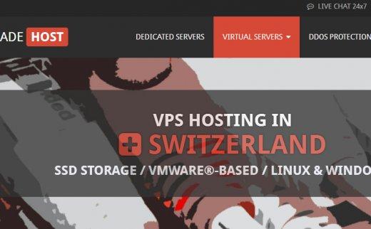 Swissmade:€6.86/月/2GB内存/40GB SSD空间/3TB流量/VMware/DDOS/瑞士