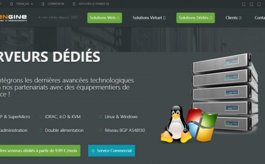 Mengine-€1.49/月/1GB内存/20GB SAS空间/不限流量/100Mbps/OpenVZ/法国