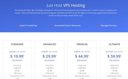 justhost – $19.99 openstack云 稳定建站 美国