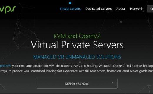 AlphaVps – 黑五促销 DDoS防护 五机房可选 €6/年起