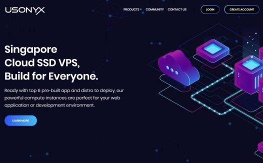 Usonyx – 新加坡KVM 25元/月 2核/2GB/100Mbps/2T流量  5折优惠
