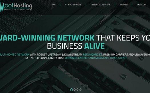 WootHosting – $15/年 KVM 1核 1G 20G 3T 100Mbps 洛杉矶 亚洲优化线路