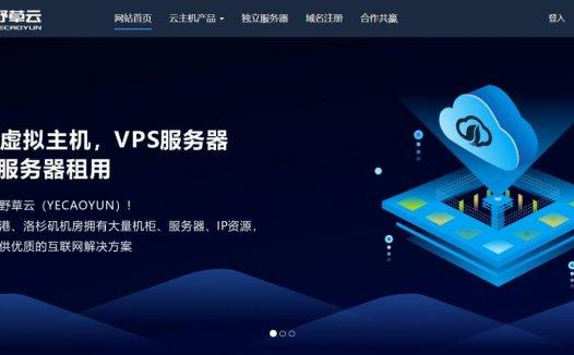 野草云 – 九月优惠 香港VPS 296元/年起 月付30元 香港CN2独服 8折