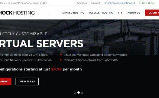 ShockHosting:洛杉矶 KVM 1G 20G硬盘 1TB流量 月付3.74美元