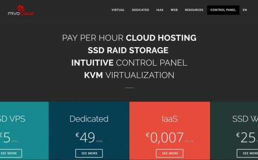 MivoCloud – €5/月 2GB/40GB/不限流量 KVM 俄勒冈
