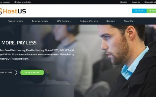 HostUS – 美国老牌VPS商家 7折限时优惠
