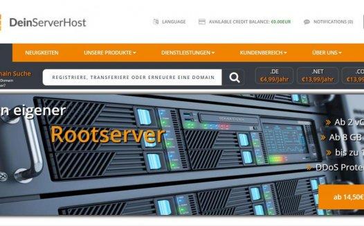 deinserverhost – 德国KVM限时优惠 10G内存 10欧/月