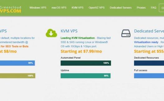 GreenCloudVPS – 香港KVM 500Mbp端口 大陆直连 折后7刀/月