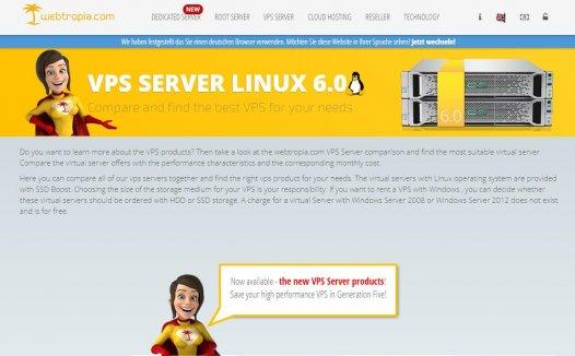 Webtropia – 德国VPS 1欧/月 限时促销